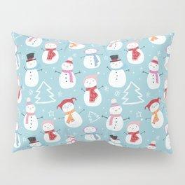 Fun Christmas Snowmen Pillow Sham