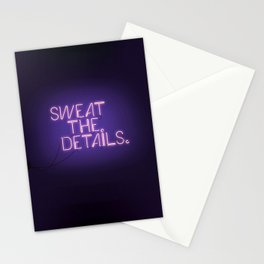 Sweat the Details Stationery Cards