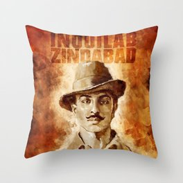 Shaheed-E-Azam Bhagat Singh Throw Pillow