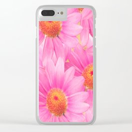 Bunch of pink daisy flowers - a fresh summer feel in pink color Clear iPhone Case
