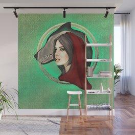 Wolf Girl Wall Mural