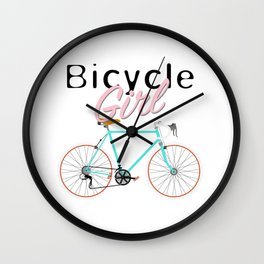Bicycle Girl - June 12th - 200th Birthday of the Bicycle Wall Clock