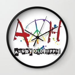 Angry Old Hippie Wall Clock