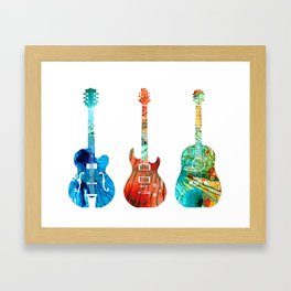 Abstract Guitars by Sharon Cummings Framed Art Print