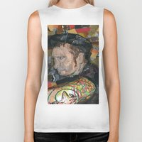 patrick Biker Tanks featuring patrick by rAr : Art by Robyn Ashley Rosner