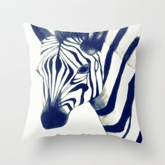 Zeeebra Throw Pillow