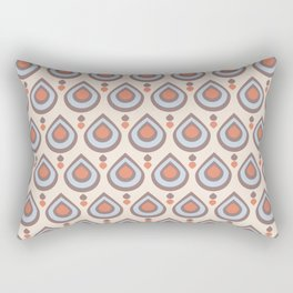 Drops Retro Blue Rectangular Pillow