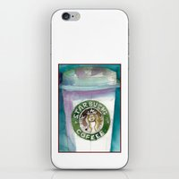 starbucks iPhone & iPod Skins featuring Starbucks by Dorrie Rifkin Watercolors