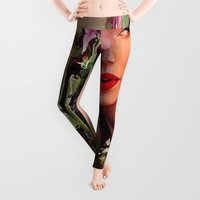 marianna Leggings featuring Pin Up by Ganech joe