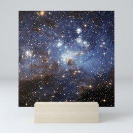 LH 95 stellar nursery in the Large Magellanic Cloud (NASA/ESA Hubble Space Telescope) Mini Art Print