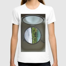 Porthole cruise ship window T-shirt