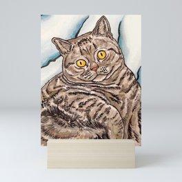 Grey Cat Mini Art Print