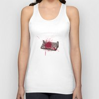 movie posters Tank Tops featuring Misery - minimal movie poster by Stefanoreves