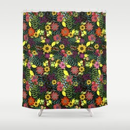 fruits and flowers Shower Curtain