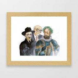 .poetas. Framed Art Print