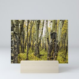 Rain-Soaked Aspen Bark Mini Art Print