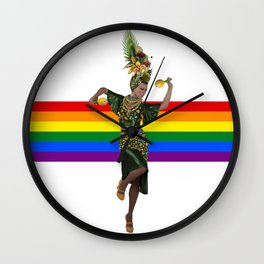 Carmen Miranda Rainbow Lgbt Pride Season Brazil Wall Clock