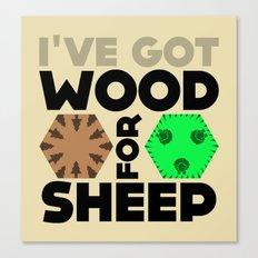 Wood for Sheep (Catan series) Canvas Print