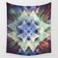 big bang Wall Tapestries featuring The Big Bang by SensualPatterns