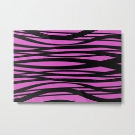 graphic Design Wave Stripes pink Metal Print