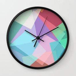 vibrant opacity Wall Clock