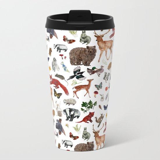Wild Woodland Animals Metal Travel Mug