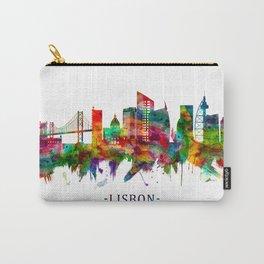 Lisbon Portugal Skyline Carry-All Pouch