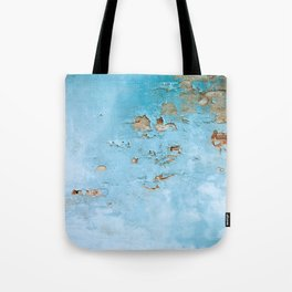 Turquoise Blue Abstract Texture Tote Bag