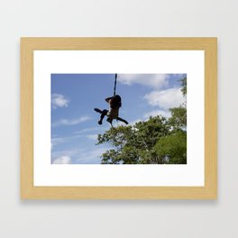 Girl on Swing Framed Art Print