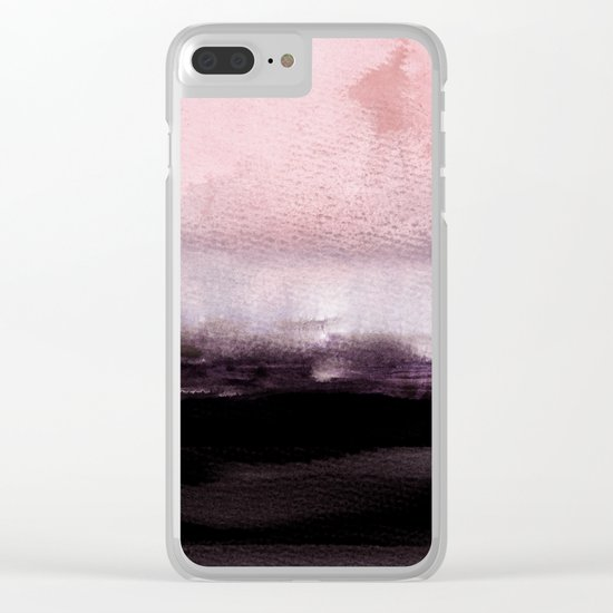 blush over purple Clear iPhone Case
