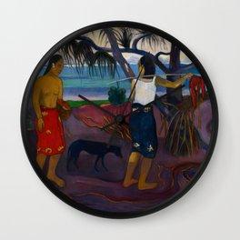 """Paul Gauguin """"I Raro te Oviri (Under the Pandanus)"""" Wall Clock"""
