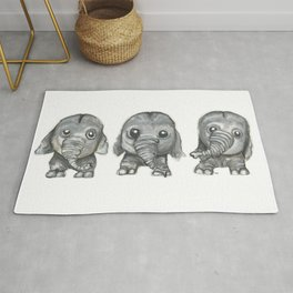 Tree little Elephants Rug