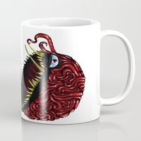 pokeball Mugs featuring Evil pokeball  by Capadochio