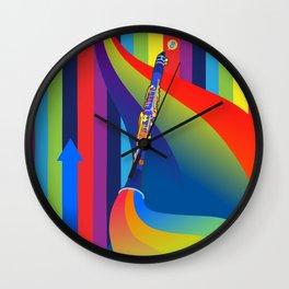 Rainbow Clarinet Wall Clock