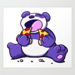 Panda Pizza Party Art Print