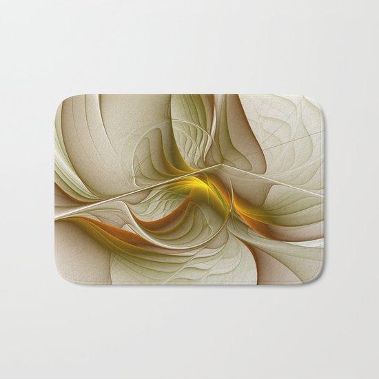 Abstract With Colors Of Precious Metals, Fractal Art Bath Mat