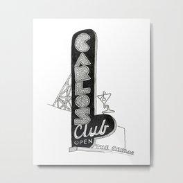 Carlos Club Metal Print