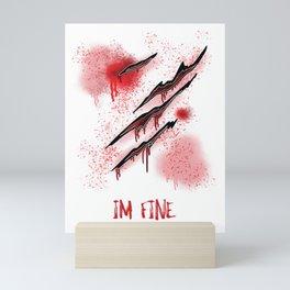 Zombie Terror War Shirt - I'm fine Gift Mini Art Print