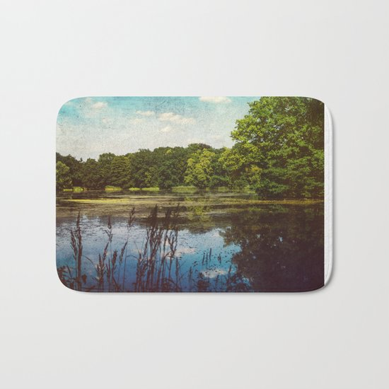 Summer Lake Landscape Bath Mat