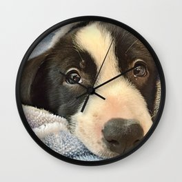 Sleepy Puppy Eyes Wall Clock