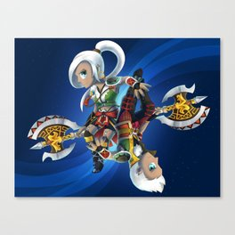Two Sexes, One Legend Canvas Print