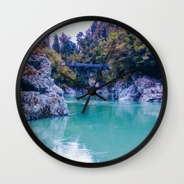 george river with blue water and ice colors in new zealand Wall Clock