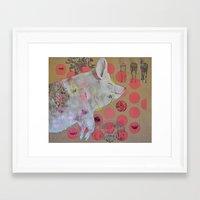 pig Framed Art Prints featuring pig by ferzan aktas