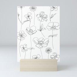 Botanical illustration drawing - Botanicals White Mini Art Print