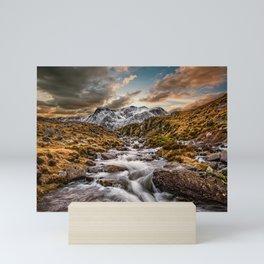 Cwm Idwal Snowdonia Sunset Mini Art Print