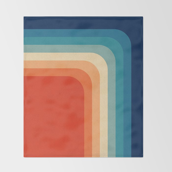Retro 70s Color Palette III Throw Blanket