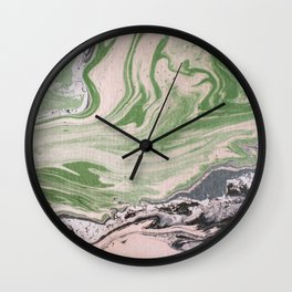 Marbled paper desert colored Wall Clock