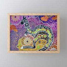 BORA THE KANGAROO 4 Framed Mini Art Print