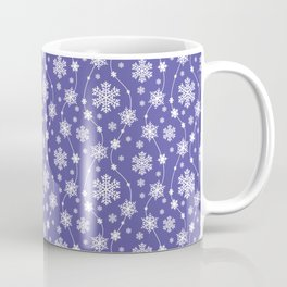 Purple Holiday Snowflake Pattern Coffee Mug