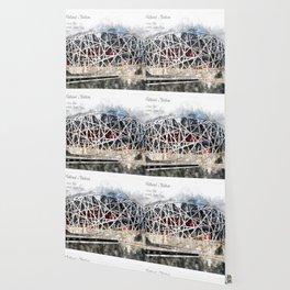 Beijing National Stadium Aquarell Wallpaper